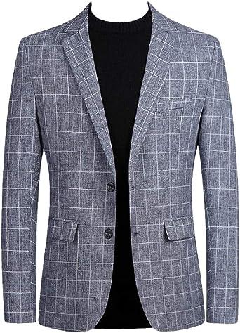 CRYYU Men 2 Button Lapel Business Casual Slim Sportcoat Blazer Jacket