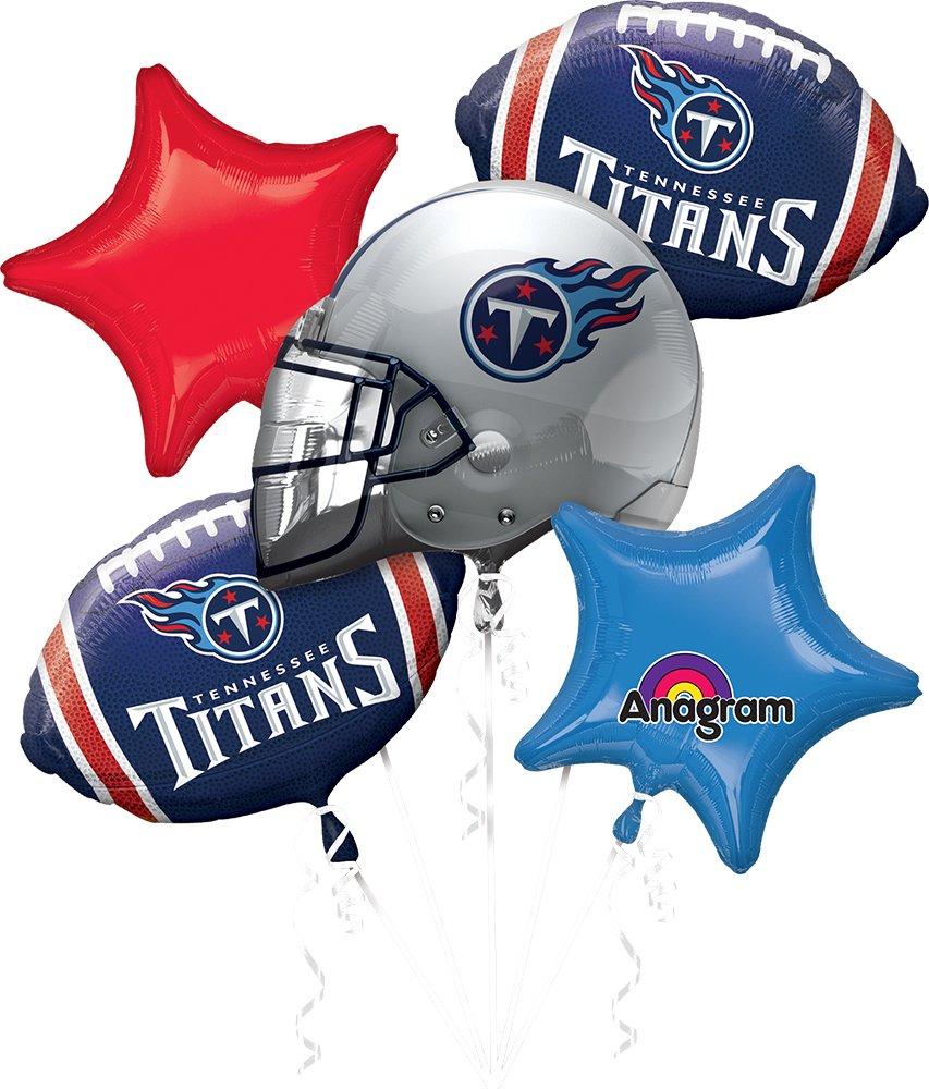 Anagram Bouquet Titans Foil Balloons, Multicolor