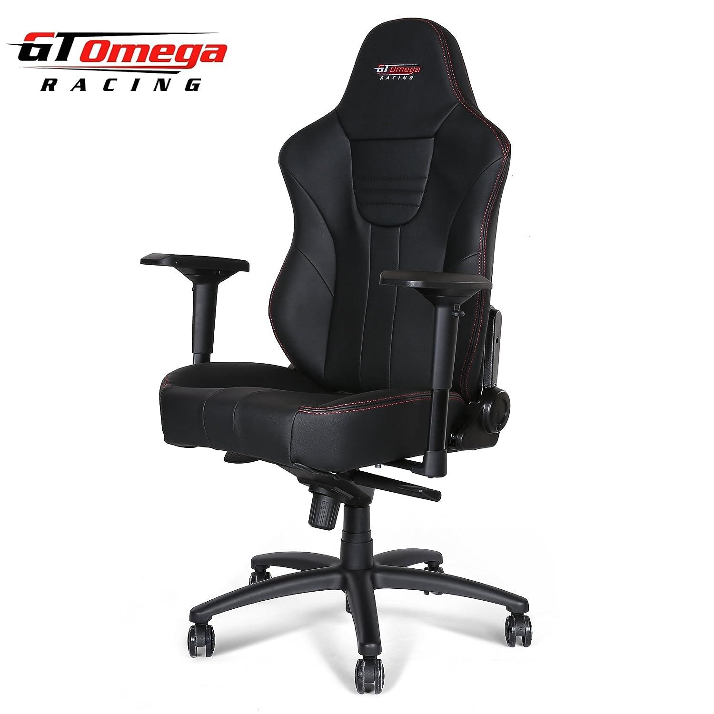 GT Omega MASTER XL Racing, Silla de oficina de piel, deportiva, para jugar a videojuegos: Amazon.es: Hogar