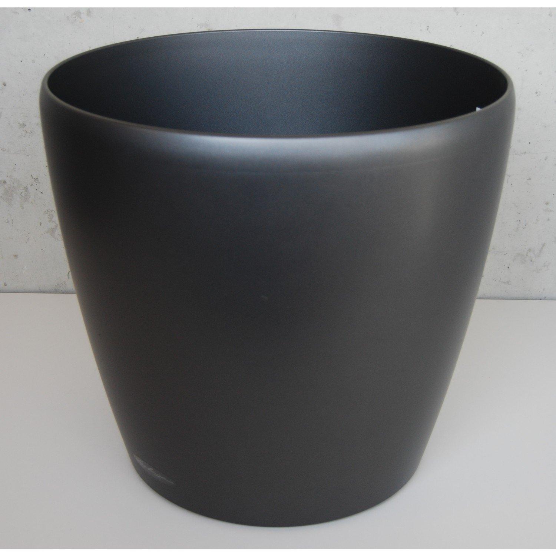 Lechuza CLASSICO Premium Metallic 60Übertopf–Anthrazit