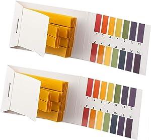 OWM Store 2 Packs PH Indicator Strips - Short Range PH Test Paper Litmus Strips