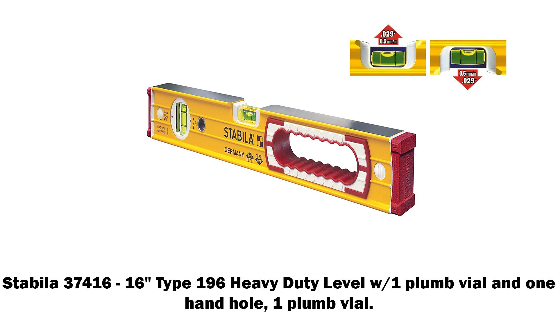 Stabila 196 Level Set Kit - 78''/58''/32''/24''/16'' Torpedo and Case by Stabila (Image #2)