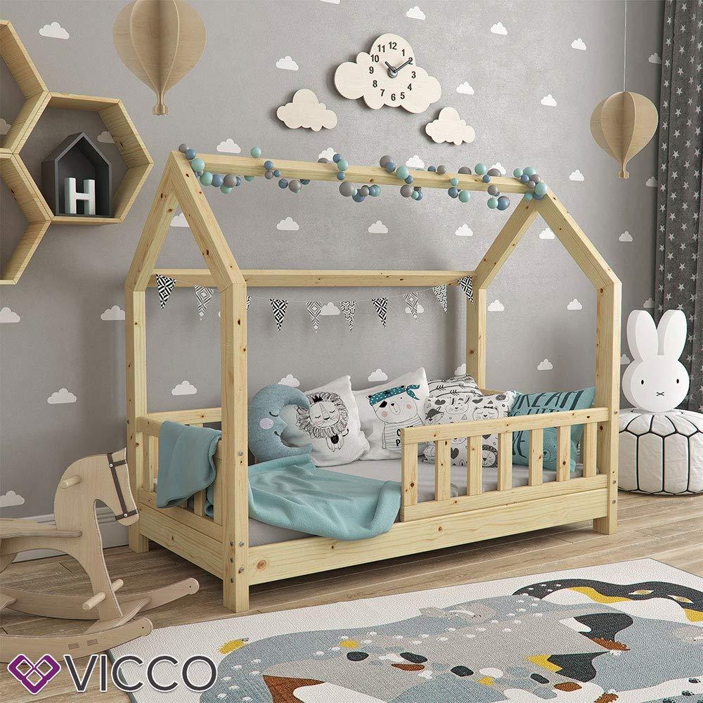 Vicco Kinderbett Hausbett Wiki 70x140cm Natur Kinder Bett Holz Haus