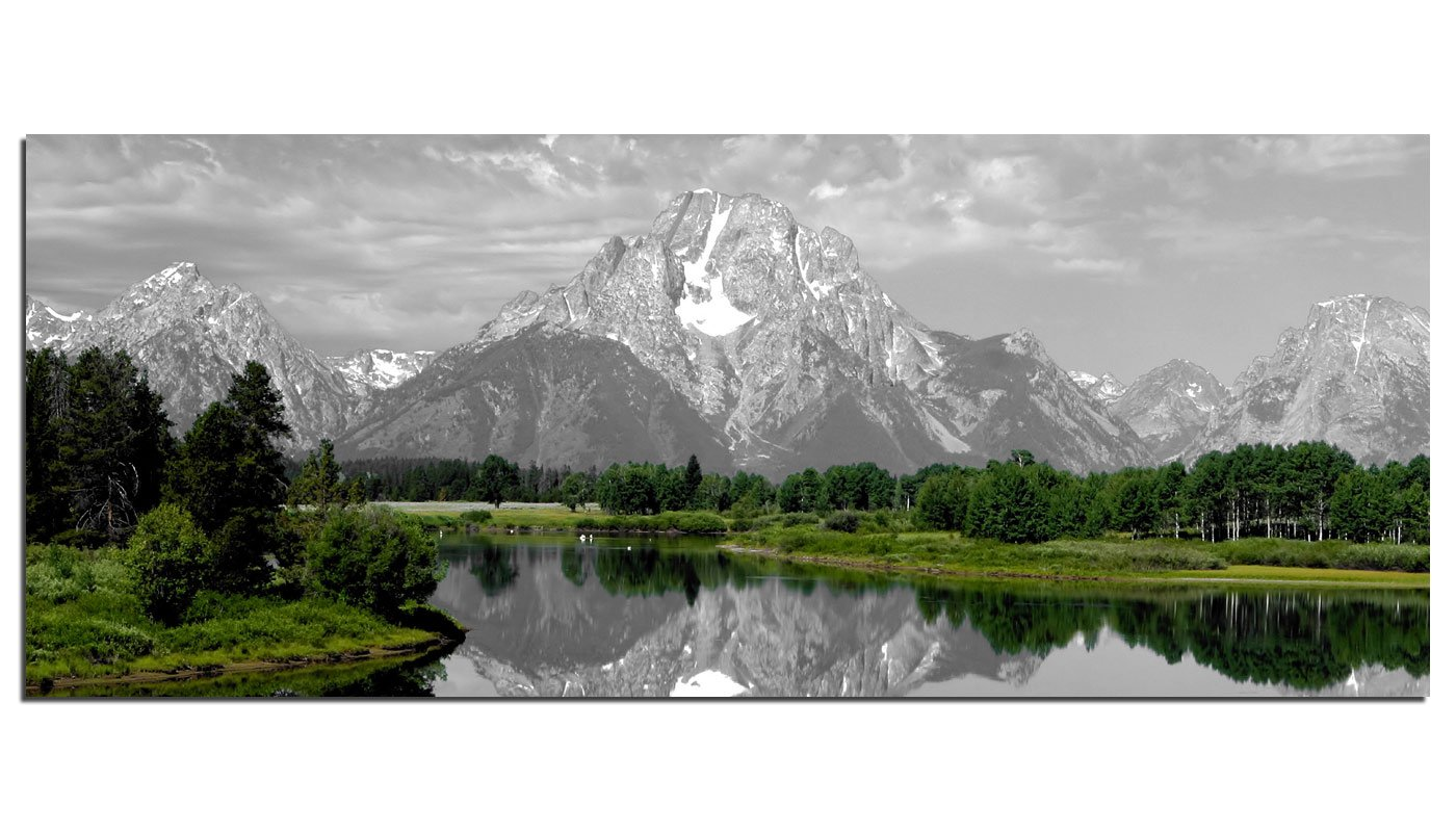 Dsign24 EG312500543 HD Real Glass Picture, Bavarian Mountain Design Wall Picture Glass Print, XXL, 125 x 50 cm
