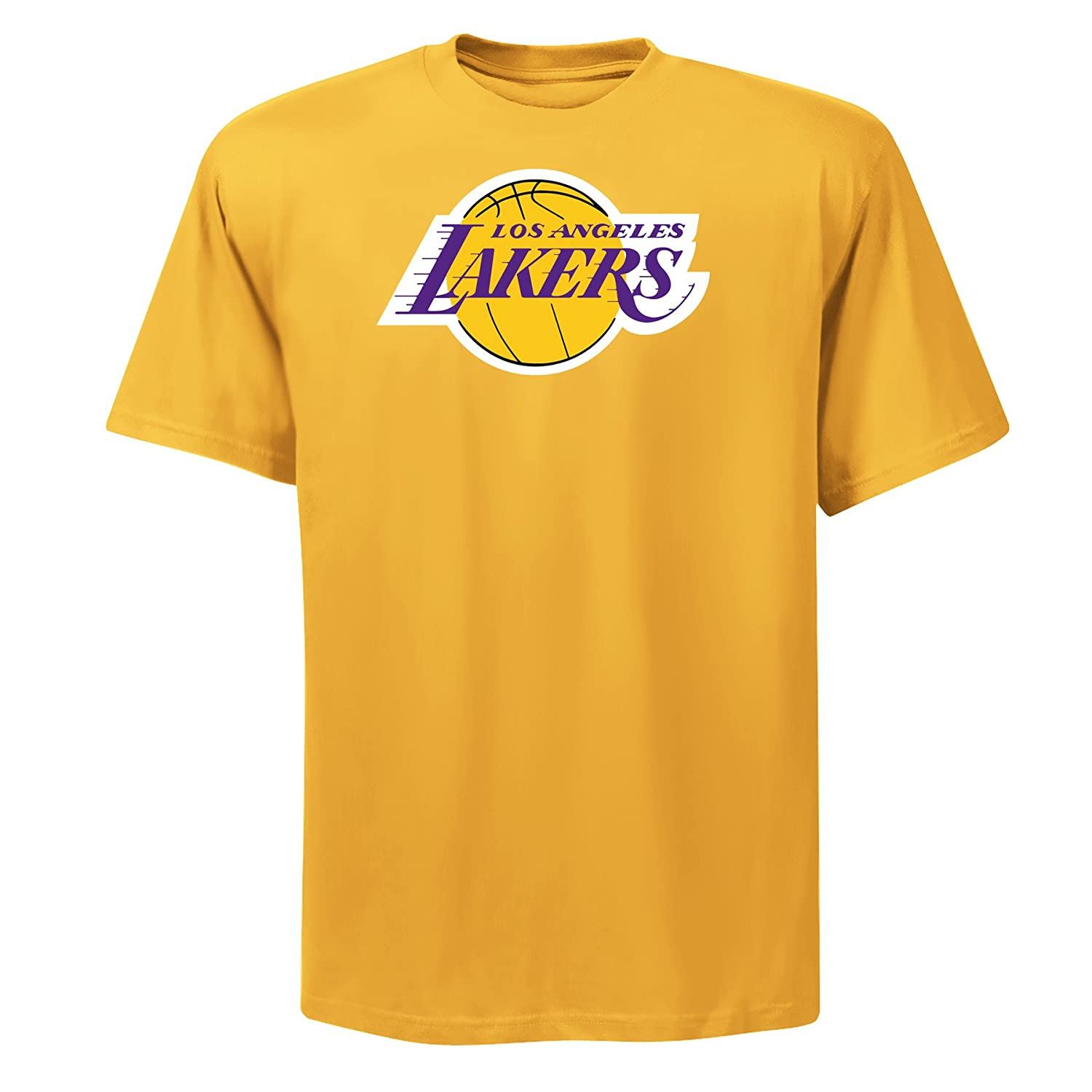 NBA para hombre los angeles lakers Magic Johnson reproductor nombre y # Oro Amarillo manga corta para Basic camiseta por Majestic - M954-0599-HCN-213, ...