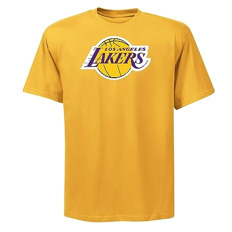1cfacfecd05 NBA Mens Los Angeles Lakers Magic Johnson Player Name & # Yellow Gold Short  Sleeve Crew