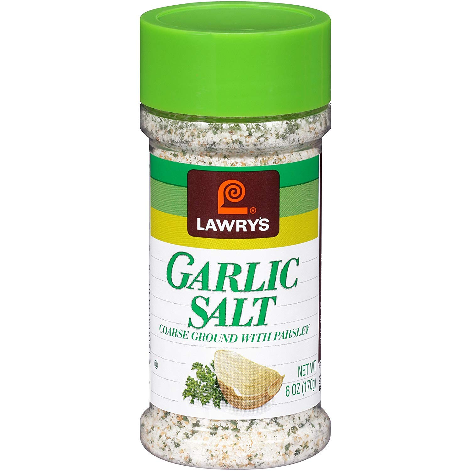 Lawrys Garlic Salt Coarse Ground with Parsley 170g Jar - Pack of 2