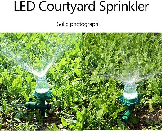 Sue Supply Aspersor de iluminación LED multicolor para jardín, riego al aire libre, boquilla para patio, césped, sistema de riego: Amazon.es: Jardín