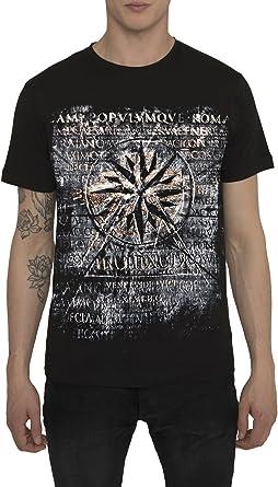 Camisetas Estilo Vintage Rock Band para Hombre, Camiseta Negra, Estampada con Metal de Oro - NAUTICAL STAR T Shirt Fashion Designer, Algodón, Cuello redondo, Manga corta, Ropa Moda Moderna S M L: