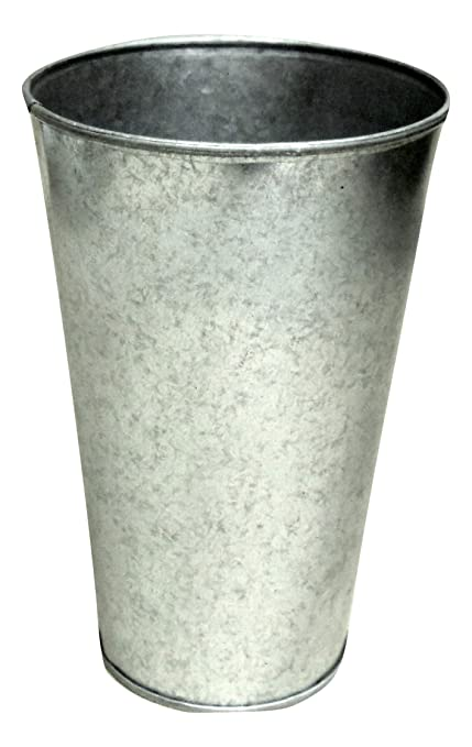 Amazon Set Of 3 Galvanized Buckets French Style Taper 9 Tall X
