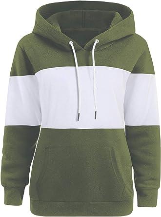 Honey GD Womens Solid Pullover Hoodies Top Hooded Drawstring Sweatshirt