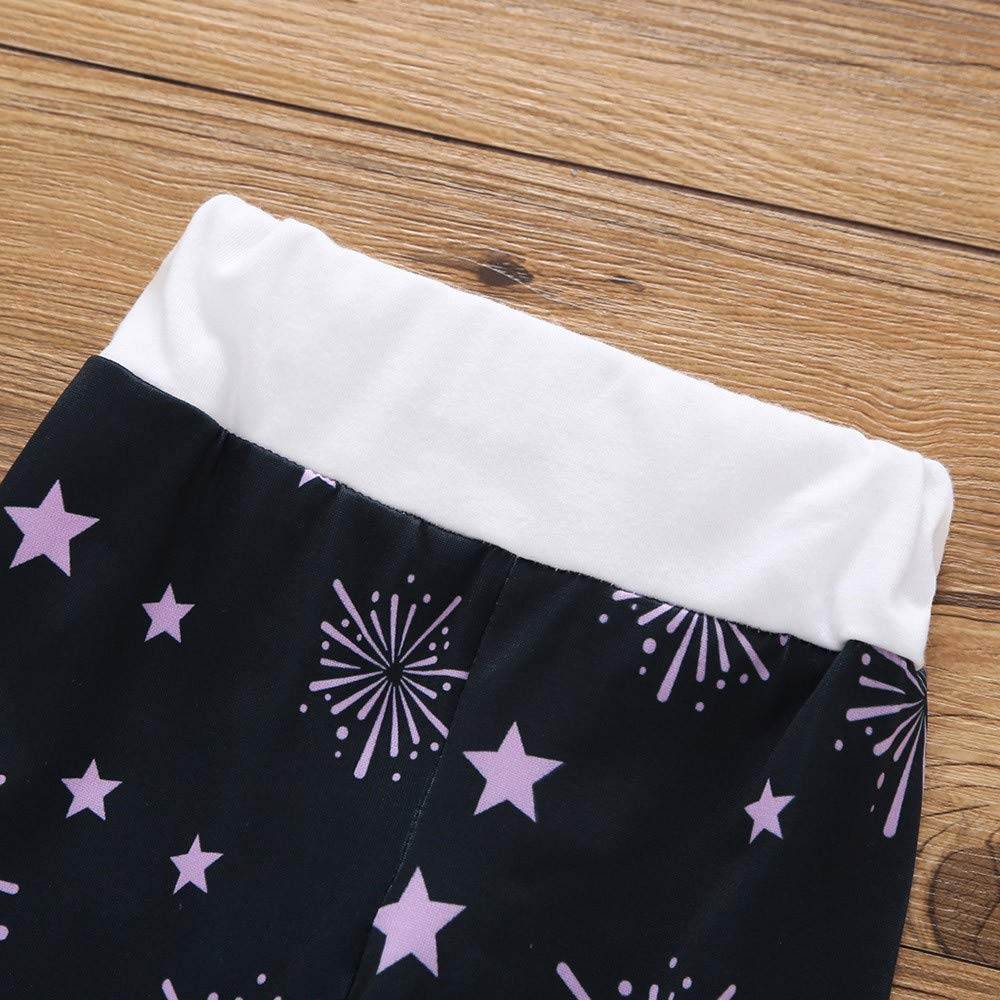 4PC New Year Newborn Baby Unisex Letter Elephant Fireworks Star Print Tops+Pants+Headband+Hat Outfit Set