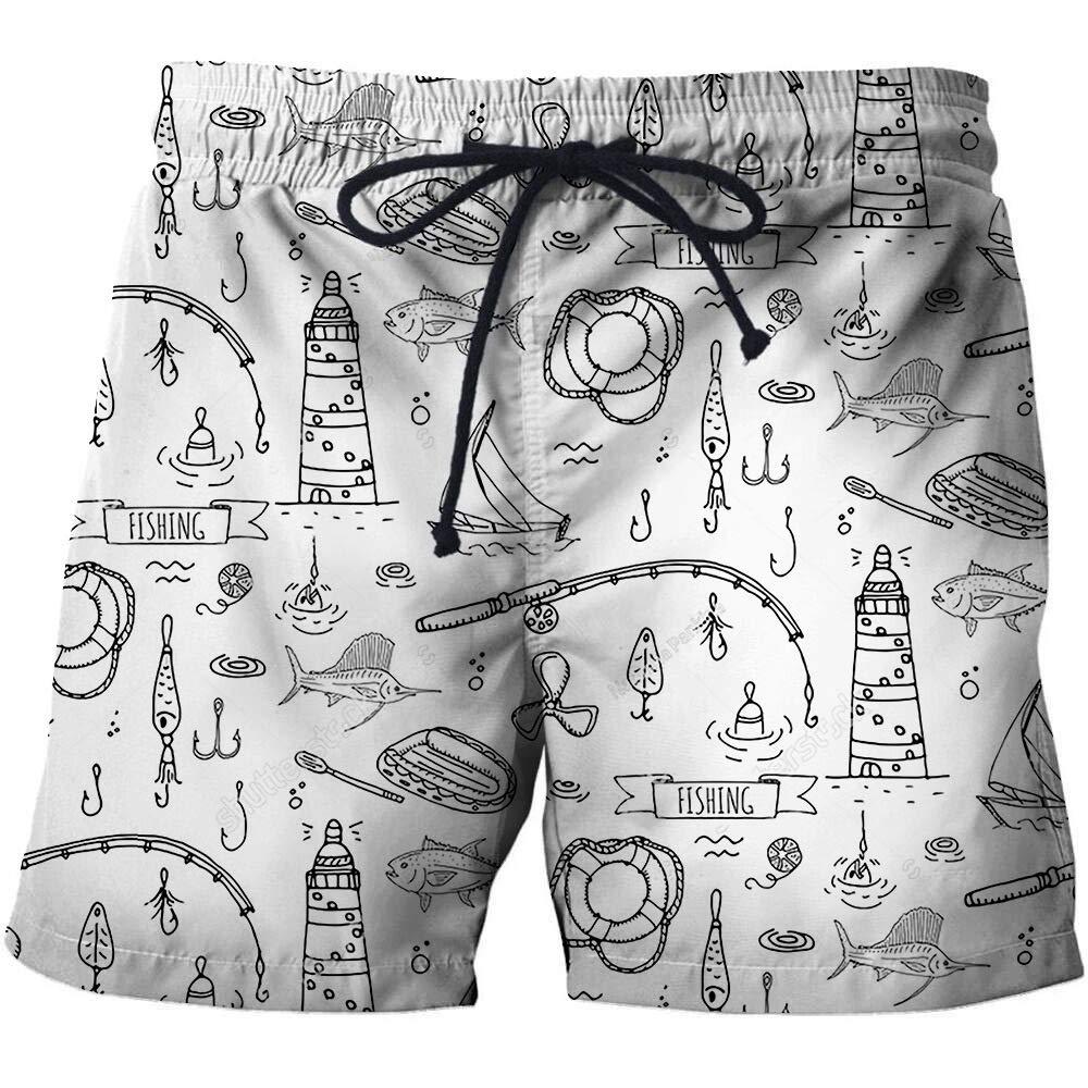 Mens Novel 3D Print Beach Shorts Summer Quick Dry Swim Trunks Bathing Suit Board Shorts Hawaiian Shorts Mesh Lining C#6