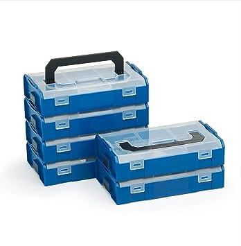 Bosch Sortimo L Boxx Mini   Juego de 6 en Rojo Transparente   Caja ...