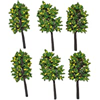 """Asianhobbycrafts Colorful Plastic Mini Artificial Craft Garden Decoration Trees DIY : 6 Pcs : 2.5"""" - 3"""" : 1 Pack (multi green)"""