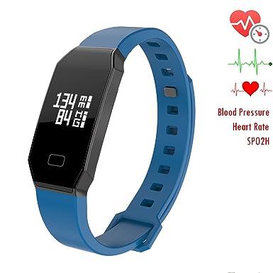 NEWYES presión Arterial Reloj Inteligente Fitness Tracker Mujer gestión Inteligente de Pulsera con pulsómetro spo2h sueño