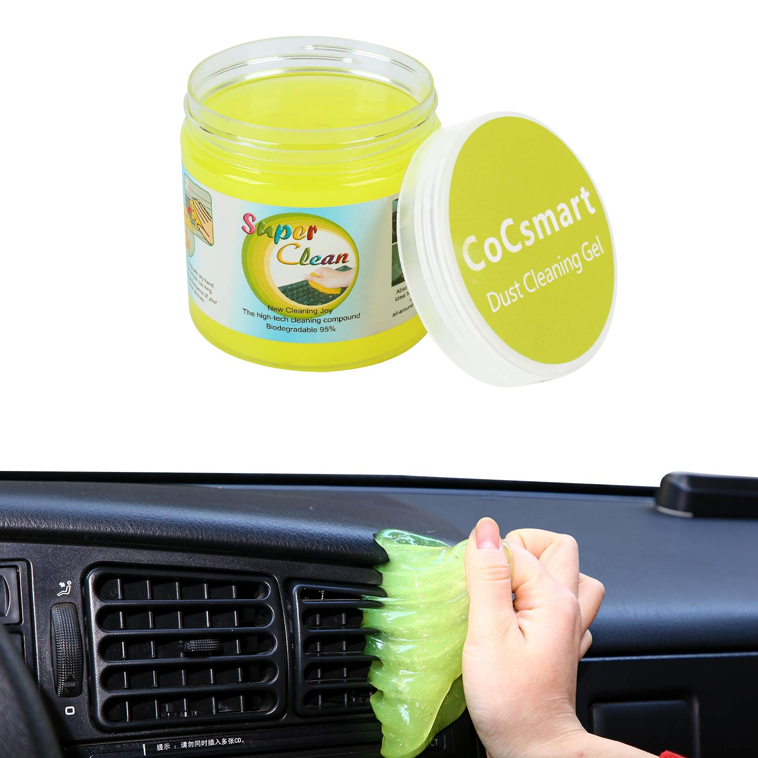 PESTON Car Cleaning Gel Universal Car Interior Detailing Slime Automotive Dust Air Vent Keyboard Cleaner Putty for Auto Laptop Home Office Reusable
