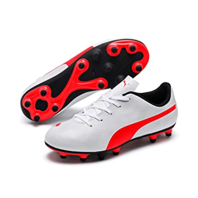 950180e9baafe Puma Boys   Girls Football Rapido FG Jr White Sports Shoes