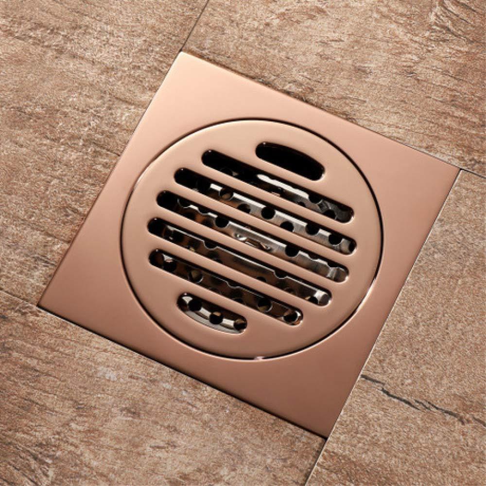 Penao Deodorante in Rame e Scarico a Pavimento a Prova di Insetti, Scarico Anti-Acqua sul Tetto, Scarico a Pavimento in oro rosa, Prodotti per la casa 100mmx100mm