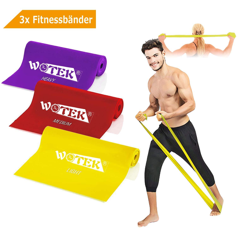 Bandas Elasticas Fitness Goma Resistencia Bandas de Ejercicios para Yoga, Pilates, Crossfit, Estiramientos