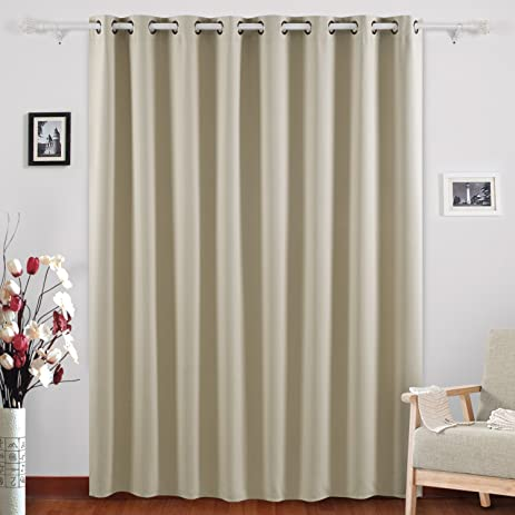 Deconovo Blackout Curtains Wide Window Curtains Room Darkening Drapes For  Living Room 100 X 95 Inch