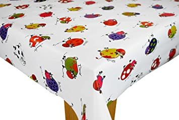 Cow Names on White PVC Tablecloth Vinyl Oilcloth Kitchen Dining