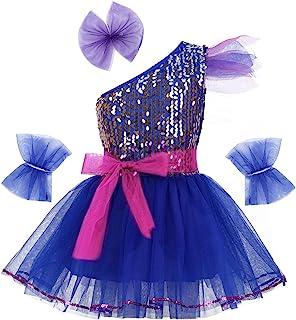 iEFiEL Mädchen Kleid Ballettkleid Pailletten Kleid Tütü Ballett Trikot Kinder Tanz Kostüm Prinzessin Kleid Weihnachten Verkleidung Karneval Party Fest