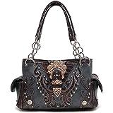 Western Handbag Gold Buckle Concealed Carry Satchel Shoulder Bag