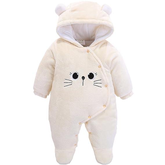 Morbuy Jumpsuit Bebé Unisexo Bebé Recién Nacido Franela Mameluco ...