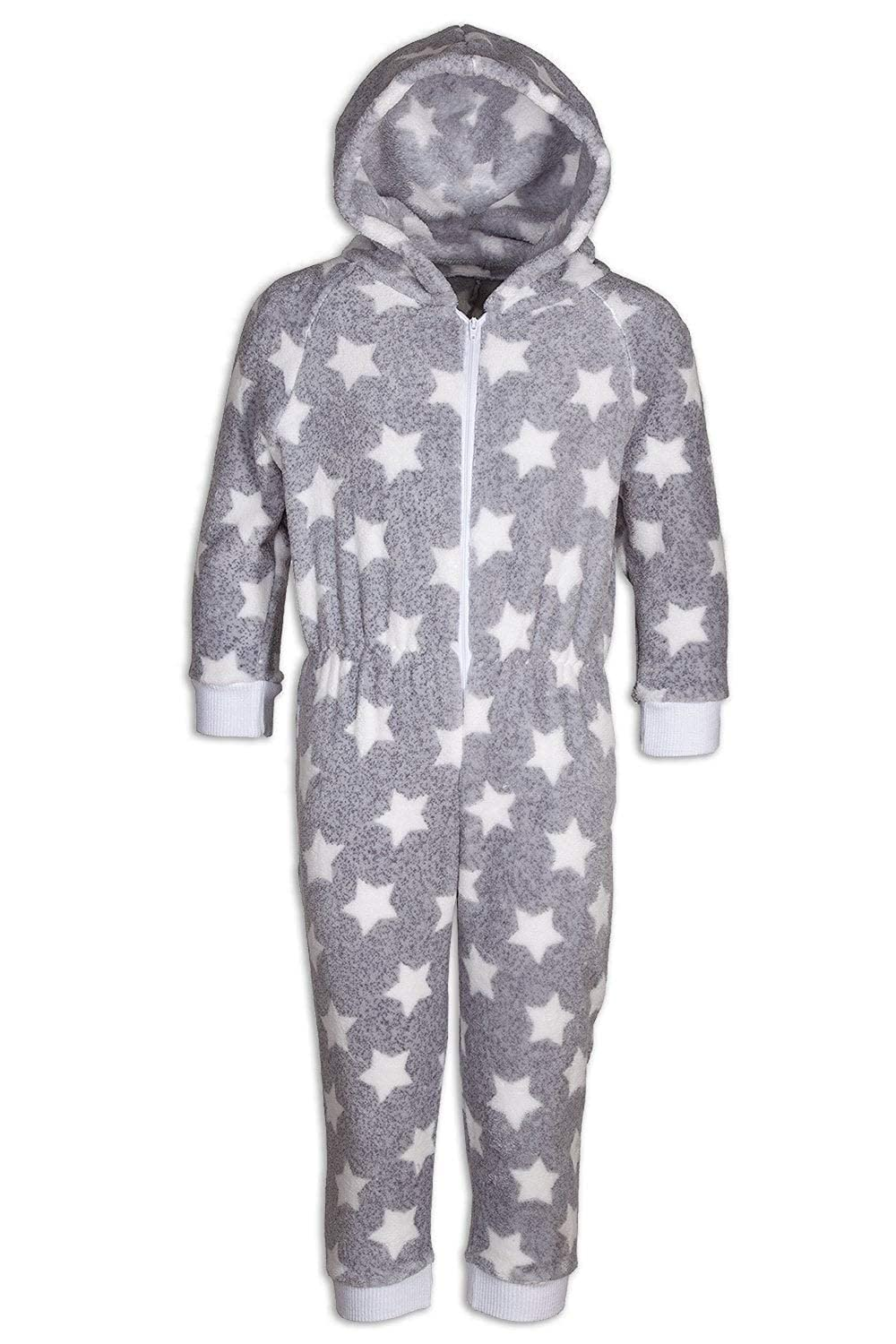 Camille Childrens Supersoft Grey Star All in One Onesie
