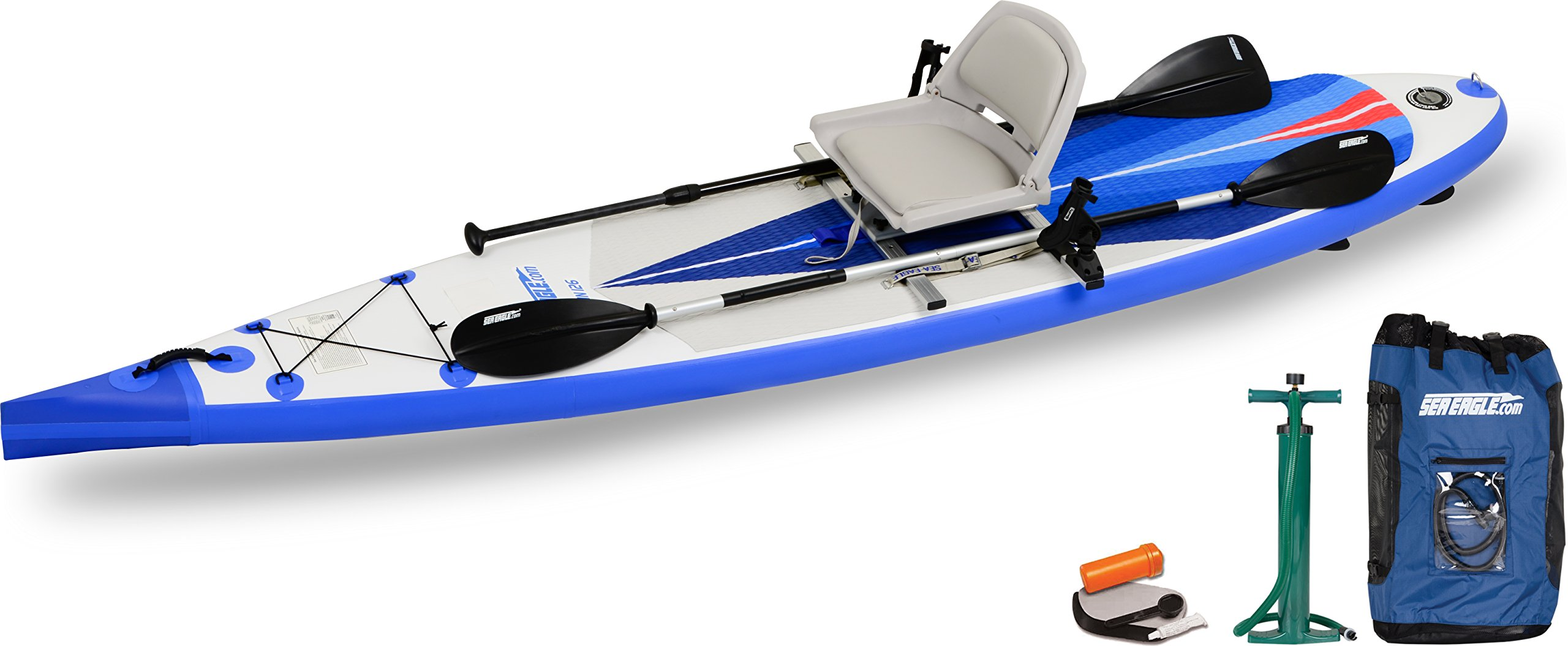 Sea Eagle NeedleNose NN126 Inflatable Touring SUP Swivel Seat Fishing Rig Package
