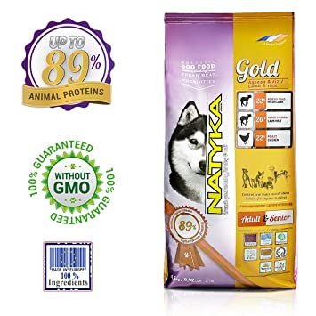Natyka Hypoallergenic Adult Dog Food Gold Lamb And Rice Mix