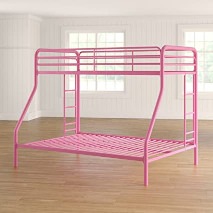 Amazon Com Simple Living Products Twin Over Full Bunk Bed Metal