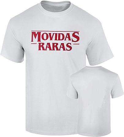 B & C Camiseta Stranger Things Impresion de Terciopelo Movidas Raras Premium Algodon Calidad 190grs: Amazon.es: Ropa y accesorios