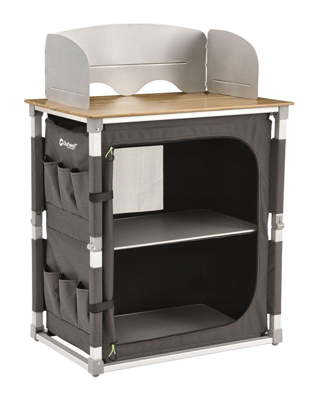 Outwell Padres Küchentisch mit Bambustischplatte: Amazon.de: Sport ...