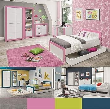 Jugendzimmer Kinderzimmer Komplett 4teen Set B Weiss Rosa