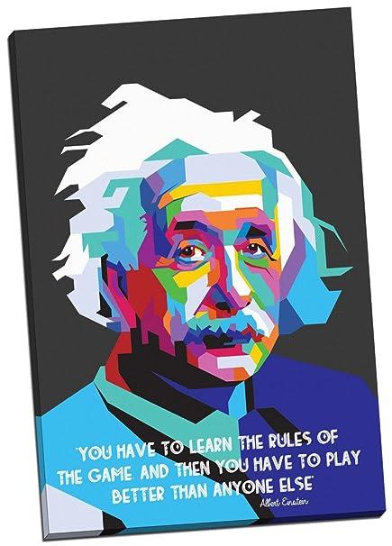 Amazon.com: Panther Print Albert Einstein Quotes Modern Art Canvas ...