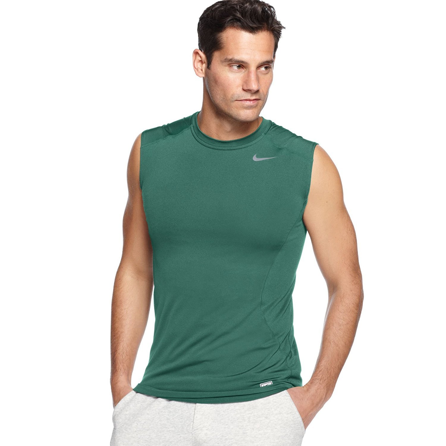 0e575e24e9321 92% Polyester 8% Spandex Dri-FIT fabric helps keep you dry and comfortable  Flat seams move smoothly against the skin Ergonomic seam design follows the  ...