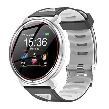 Smart Watch for iOS Android Phones, AIVEILE 2019 Version Activity Fitness Tracker Bluetooth Bracelet Waterproof Smartwatch with Blood Pressure Monitor ...