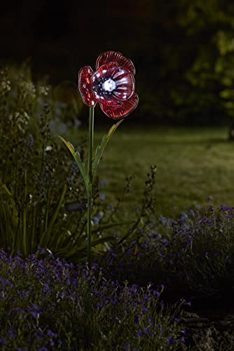 Ordinaire Set Of 2 Poppy Garden Border Solar Lights