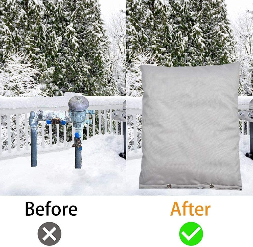 Freeze Protection Waterproof Pouch for Water Sprinkler Valve Box BDSONG Outdoor Backflow Preventer Insulation Cover for Winter Pipe Meter or Controller