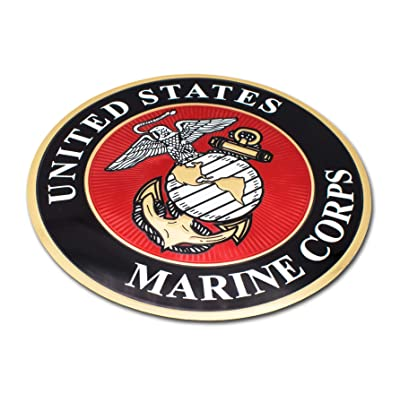 Elektroplate Premium United States Marine Corps USMC Eagle 3D Decal Sticker: Automotive