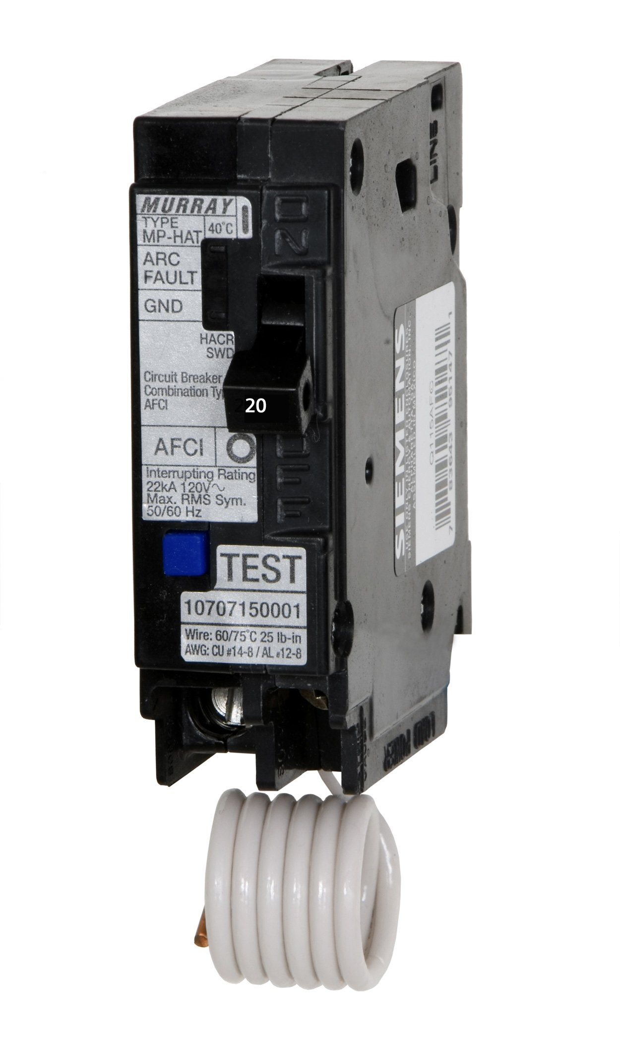 Best Rated In Arc Fault Circuit Breakers Helpful Customer Reviews Shop Eaton Type Br 30amp 2pole Breaker At Lowescom Murray Mp120af 20 Amp 1 Pole 120 Volt Interrupter Product Image