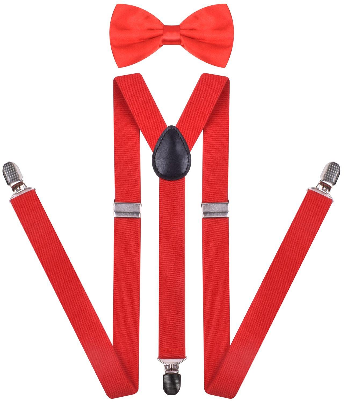 ORSKY Men's Suspender with Bow Tie Set Adjustable Elastic JA-saOPA