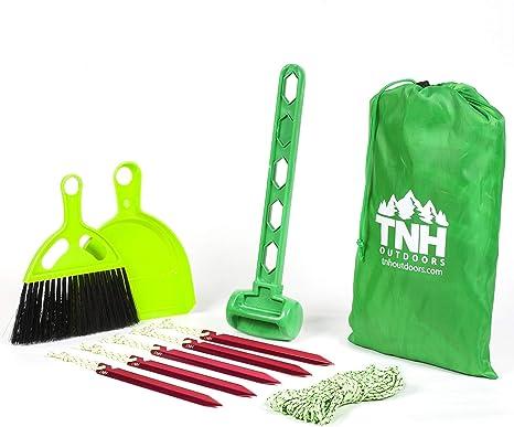 TNH - Kit de estacas para tienda de campaña al aire libre con 5 pinzas de aluminio