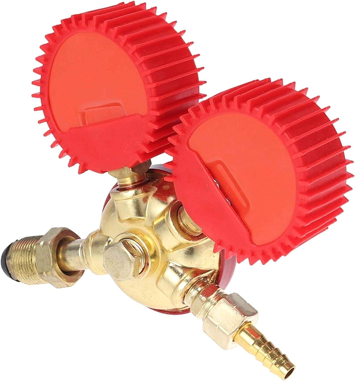 r/égulateur de Pression de gaz Mixte /à manom/ètre Double YUNB D/étendeur de dioxyde de Carbone Rouge
