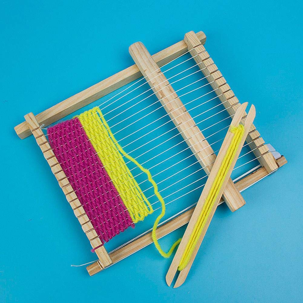 Toys Games Soundwinds Wooden Weaving Loom Kit Multi Craft