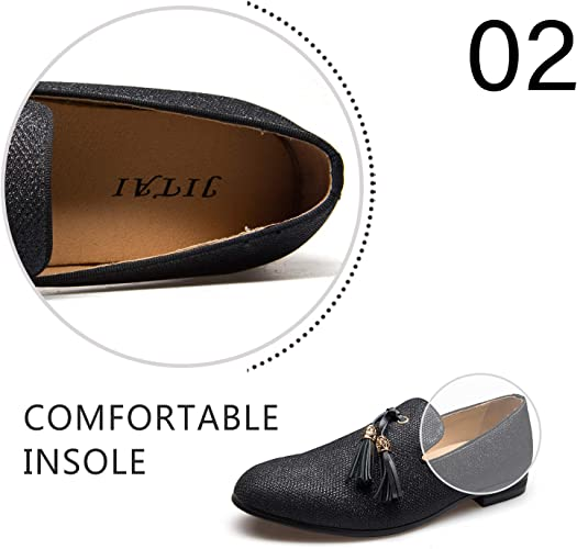 JITAI Men/'s Fashion Loafers and Faux Leather Shoes for Men Moccains Party Loafers Shoes