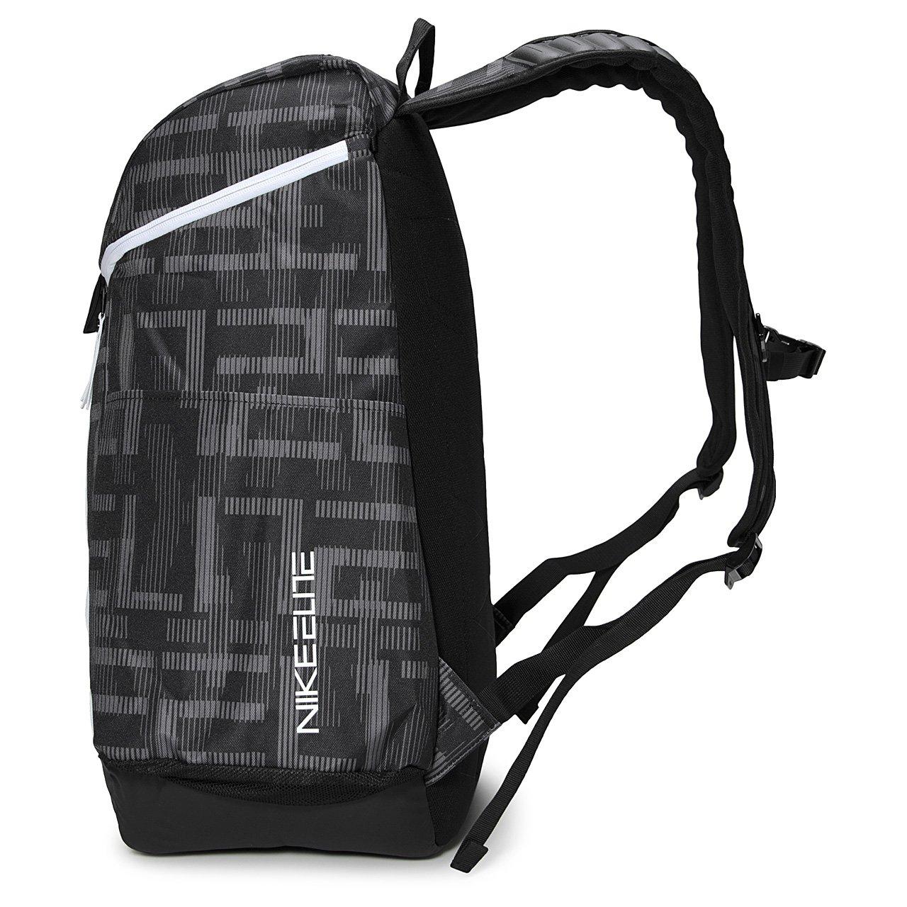 63dc60318b93 Nike Hoops Elite Max Air Basketball Backpack Gunsmoke Black White  Amazon.co.uk   Clothing