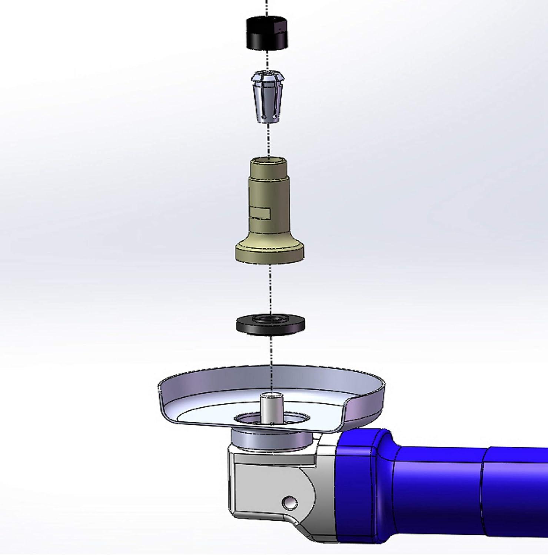 Multi Shaft Pinza di serraggio per smerigliatrice angolare con pinze di serraggio da 6,8,10 mm